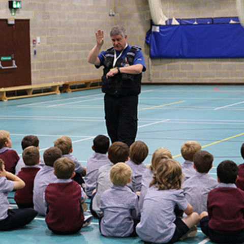 Police Community Support Officers came in to speak to the Beacon boys