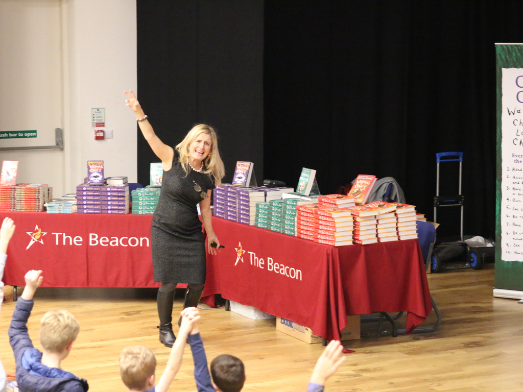 Cressida Cowell visits The Beacon 4