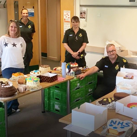 The Wexham Park Paramedic Beacon Bake Off judging team