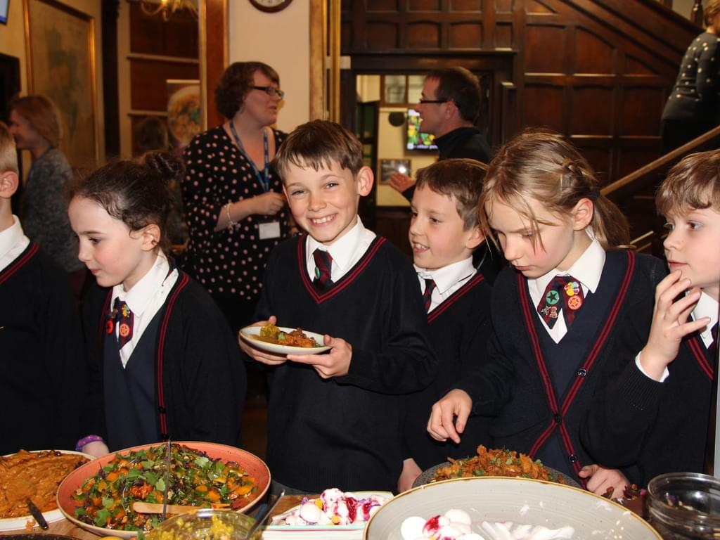 Children enjoying Zero Waste pop up food
