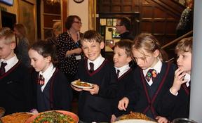 Children enjoying Zero Waste pop up food