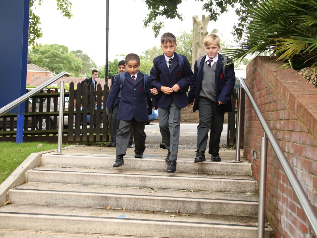 New Year 7s arrive for their first day