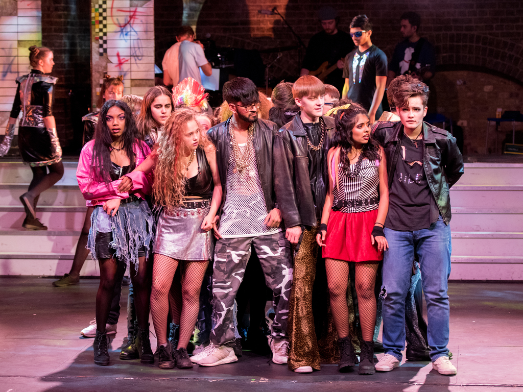 The cast was made up of John Lyon boys and girls from a number of local schools