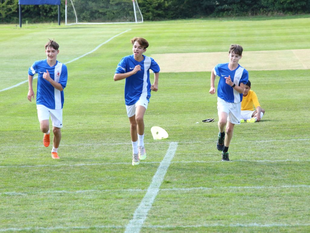 Pupils take part in the YoYo beep test