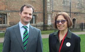 Ned Kittoe and Dr Patricia Fara
