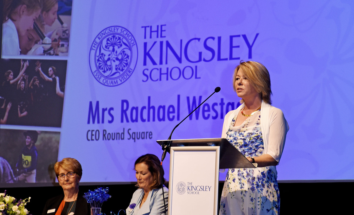 Rachael Westgarth, guest speaker & CEO of Round Square