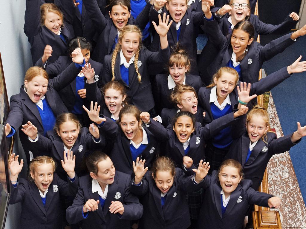 Year 7 pupils celebrating