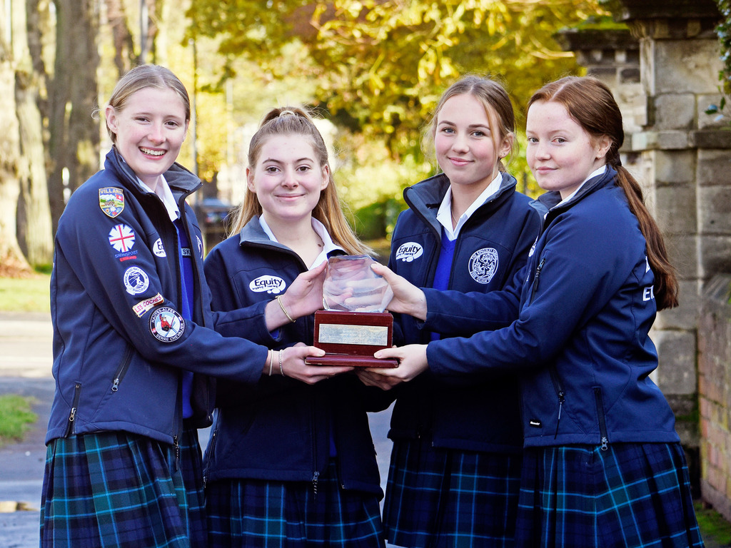 The Kingsley School Ski Team L-R: Lucy Sainsbury, Lorenza Chapman, Hannah Dennison, Emma Lawton