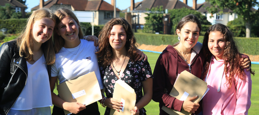 Students at Lady Eleanor Holles celebrate their record results