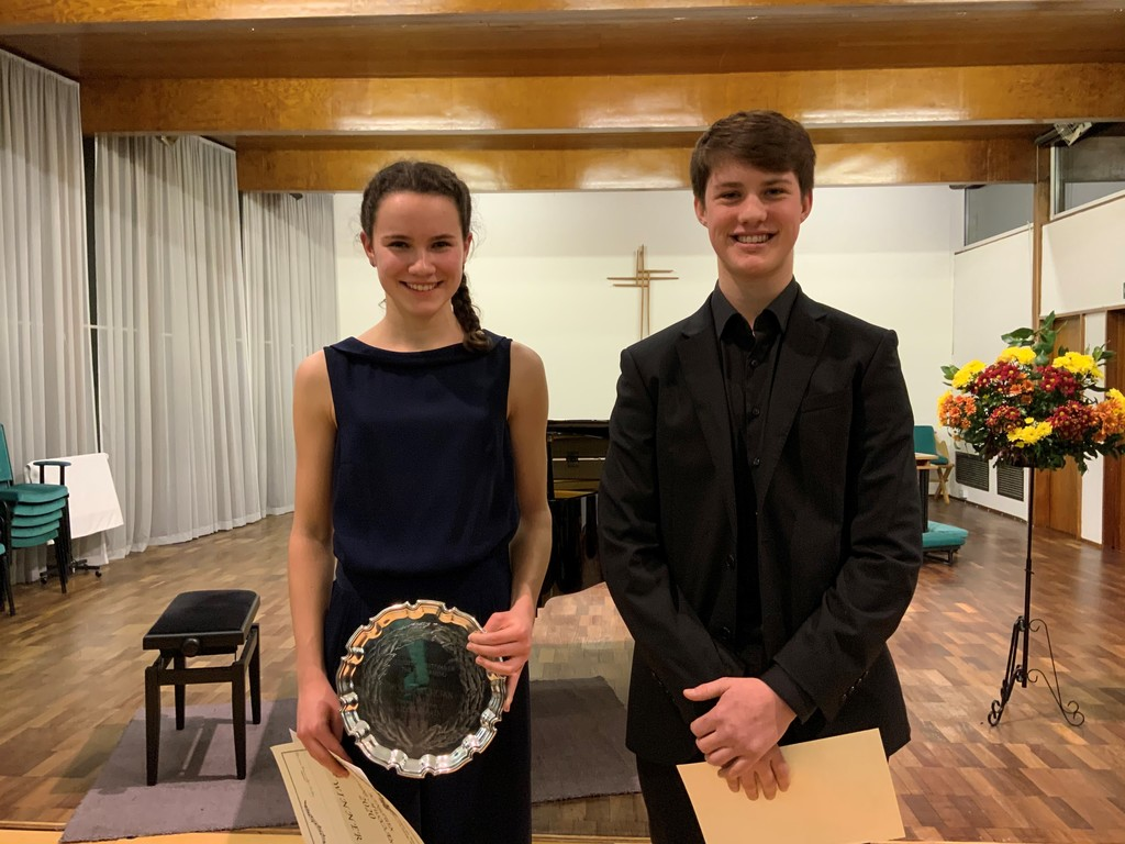 LEH student Megan, winner of Kingston Music Festival 2020 and Henry of Hampton School, who was runner-up.