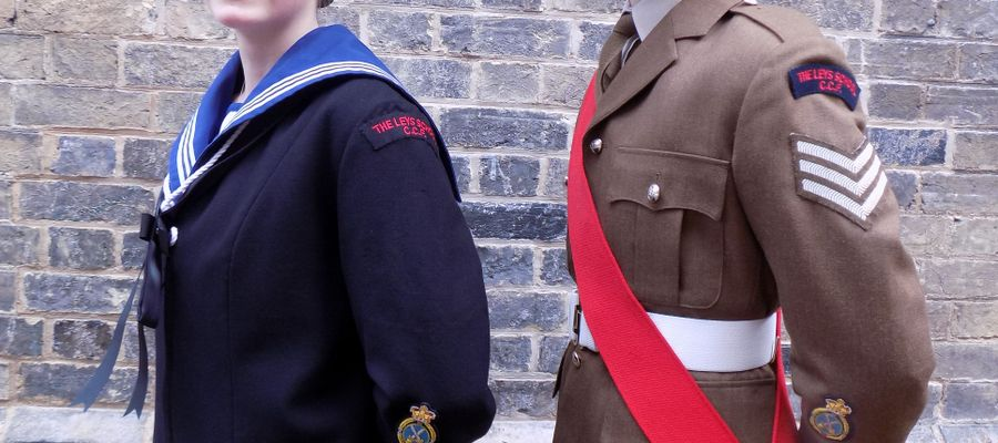 Laura and Jake in their dress uniforms