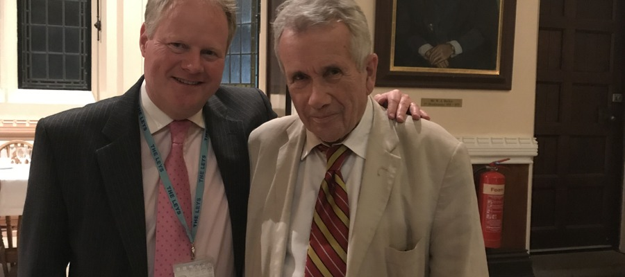 Headmaster Martin Priestley with guest speaker and Old Leysian Martin Bell OBE
