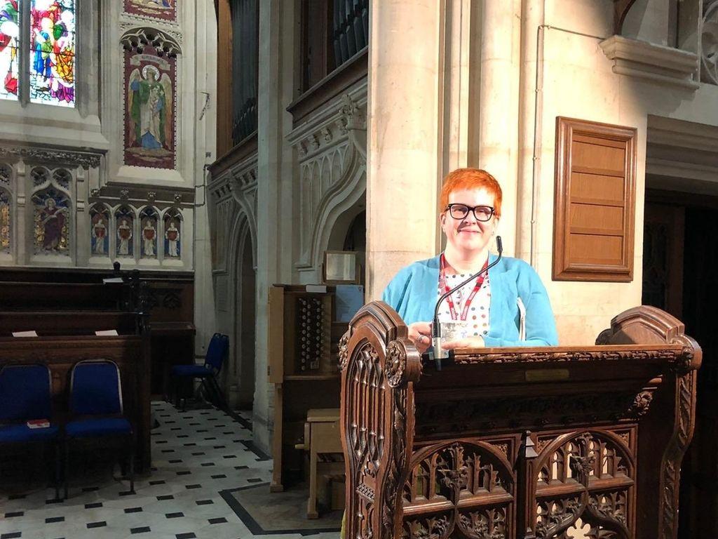 Cllr Alex Collis in the Chapel