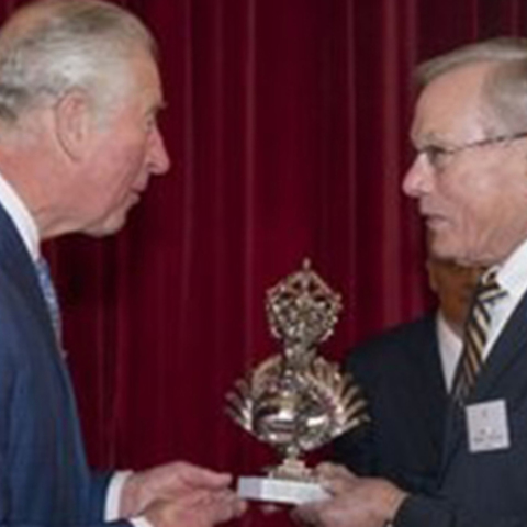 Prince Charles presents the trophy