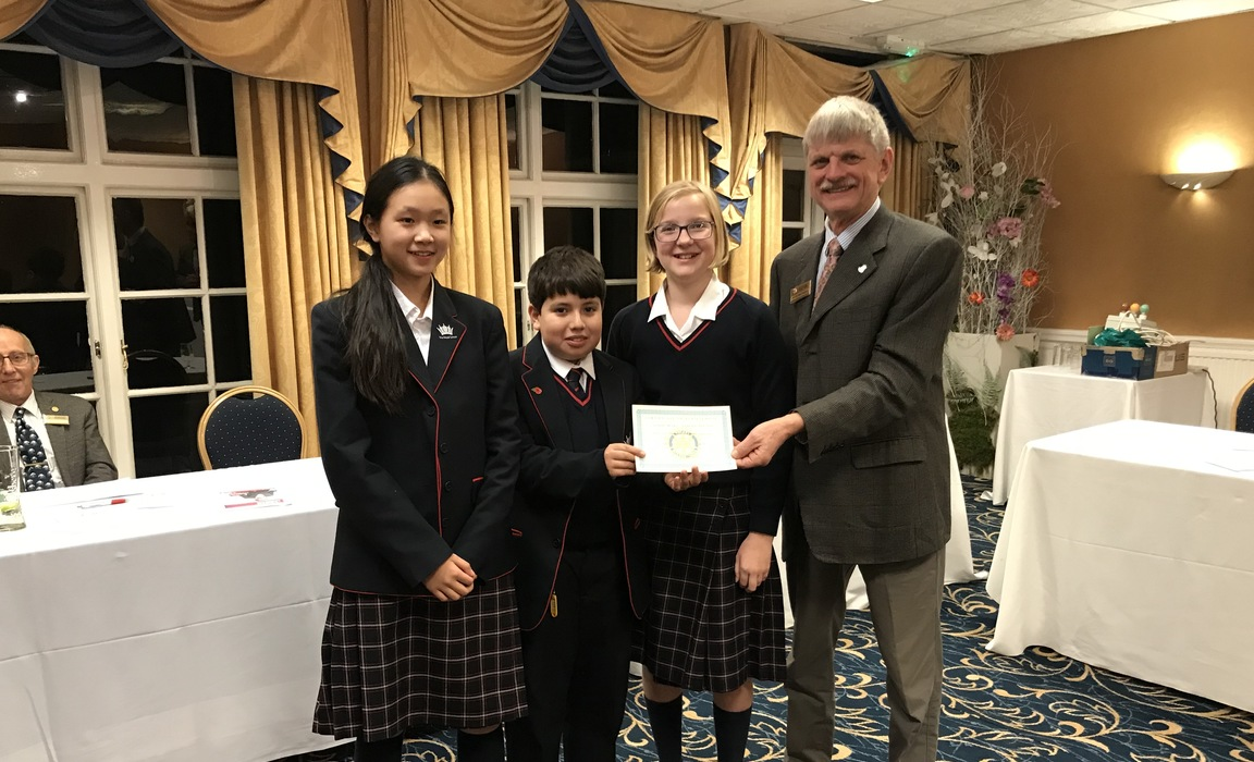 The winning team from The Royal School