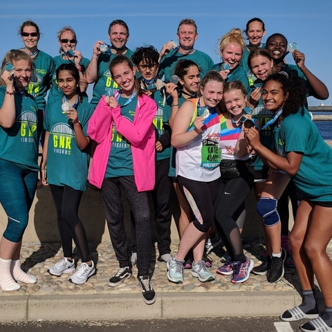 RMS Great North Run team
