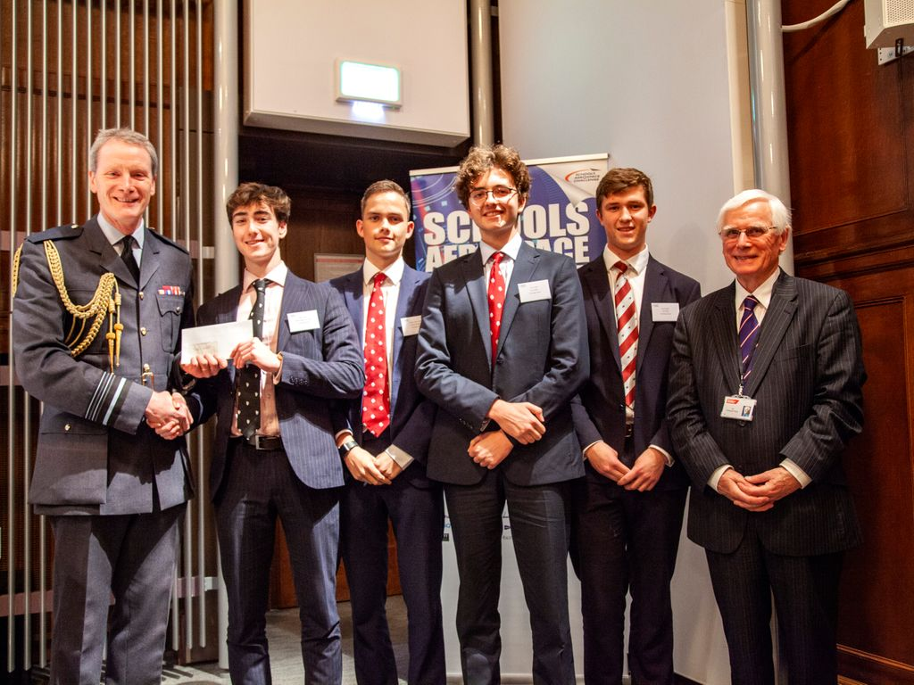 The winning Tonbridge team at the 2019 Aerospace Challenge awards ceremony