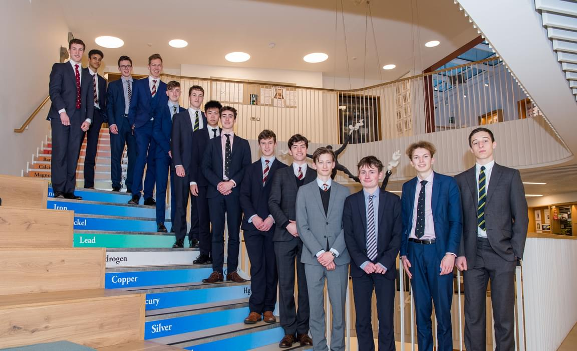 Some of the Tonbridge Sixth Formers who have won places at Oxford and Cambridge