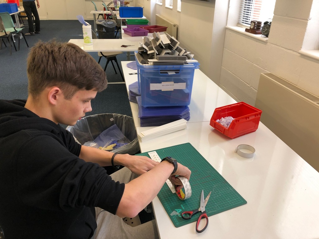 Students help make protective visors