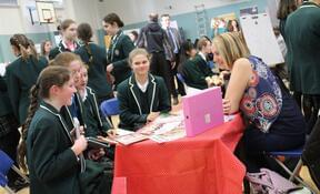 Pupils quizzed professionals ranging from web designers and wealth management consultants to publishers and chartered surveyors