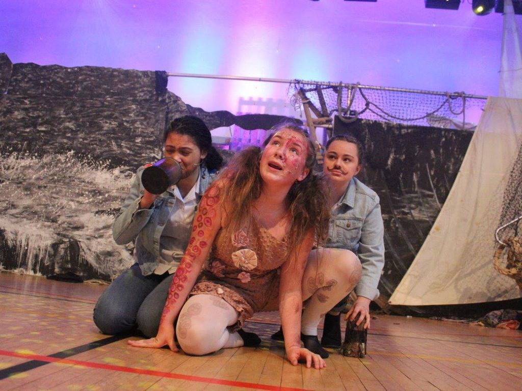 Celebrations for Truro High School's LAMDA actresses with 100% pass rate