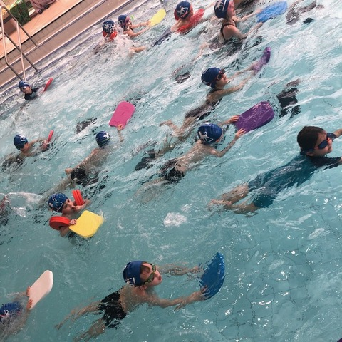 Orange Class swimming
