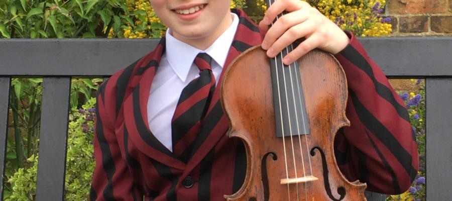 Jaren has enjoyed outstanding success playing the viola this year.