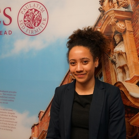 Mayi Hughes, Head Girl at UCS, is excited about the prospect of studying at Harvard University after receiving the offer of a scholarship.