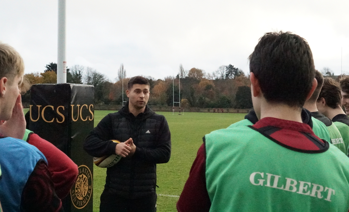 Ben Youngs, England's most capped scrum half, delivered two coaching sessions at UCS last Wednesday.