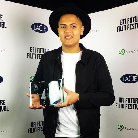 Oskar scooped the prize for Best 16-18 Short Film at the BFI Future Film Festival