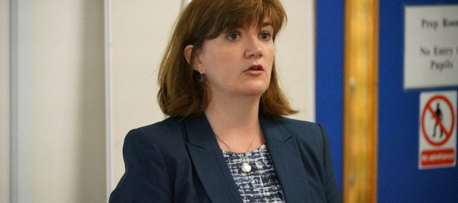 Nicky Morgan discussed Brexit, the Conservative Party leadership contest and the possibility of lowering the voting age with politics pupils from UCS