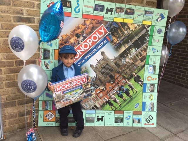 Giant Monopoly board for Upton House School children.