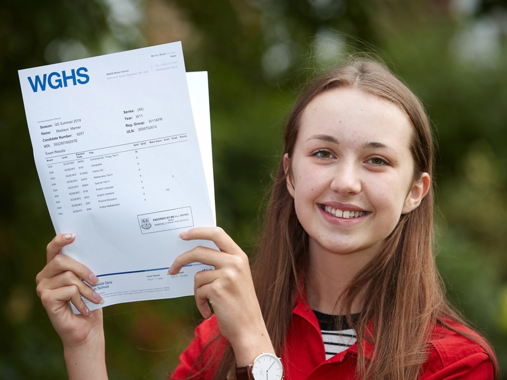 Top grade success for Wakefield Girls' High School