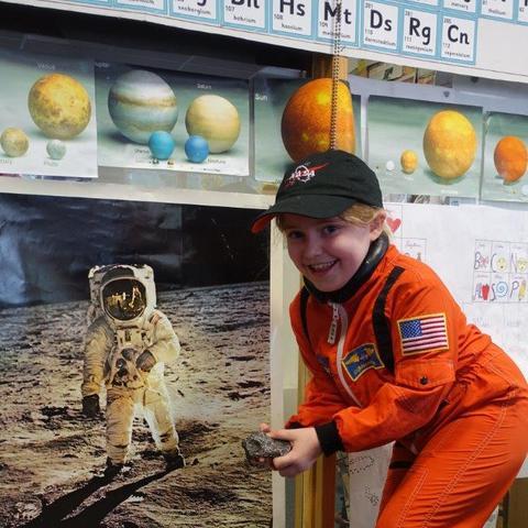 Budding astronaut Lucy