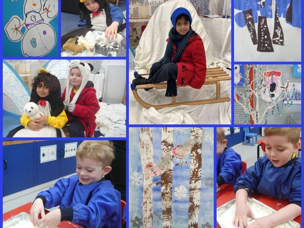 Nursery Winter Wonderland collage