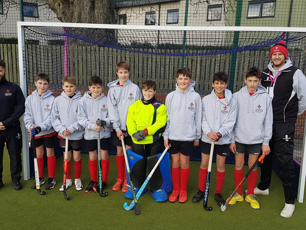 Westbourne House School Under 13 Hockey Team with Team Coaches
