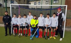 Westbourne House School Under 13 Hockey Team with Team Coaches