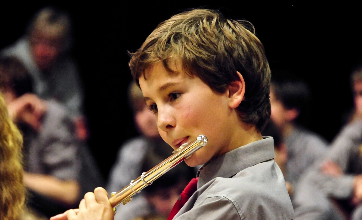 We invite children from local schools to join our children's orchestra