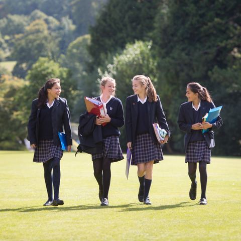 Woldingham Students in Grounds