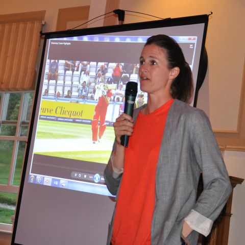 Former England Cricketer Lydia Greenway Speaks at Woldingham's Sports Dinner 2018