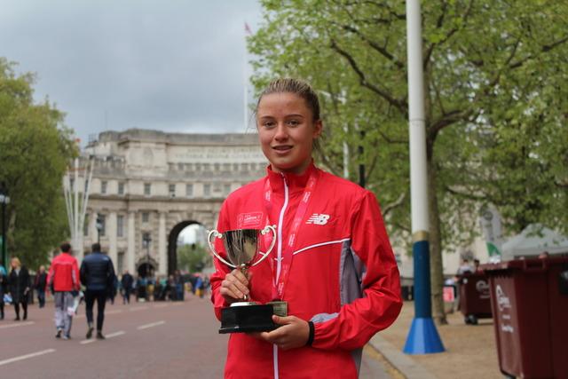Woldingham's Charlotte Wins Mini London Marathon for Second Time
