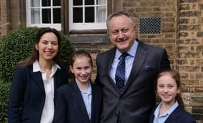 Dr James Whitehead, his wife Nicola and daughters Ignatia (11) and Chiara (9)